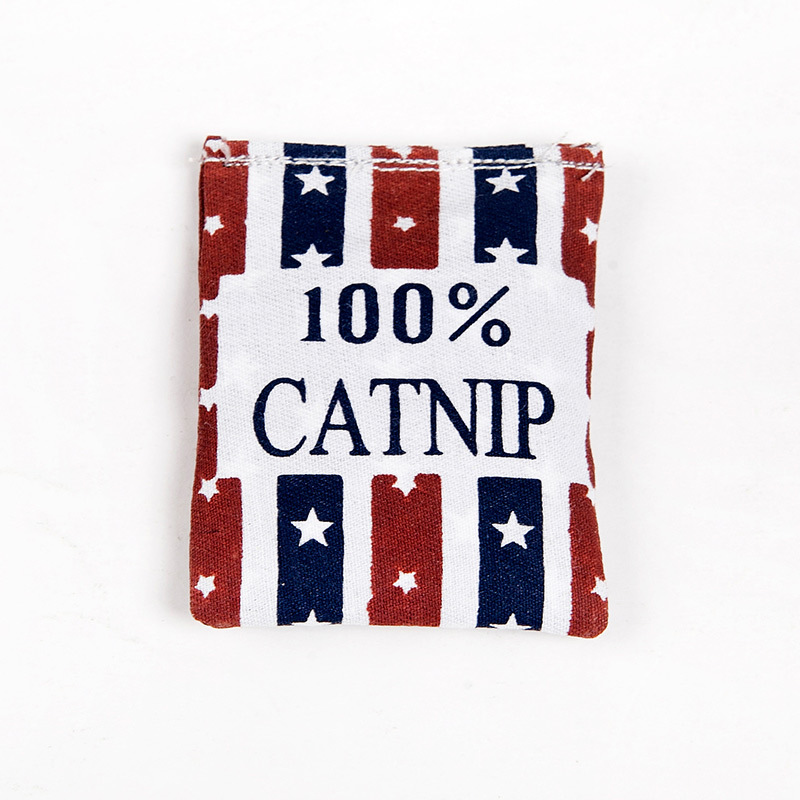 100% Linen Square Shape Catnip Bag/Catnip Toy