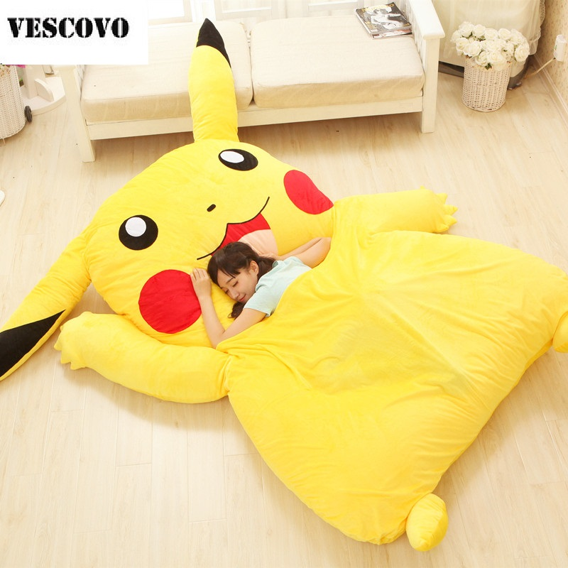 Lovely Pikachu Mattress Totoro Lazy Sofa Cushion Mat Soft Cartoon Bed Child Tatami Cute Toys For Kid-in Mattresses from Furniture