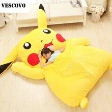 Милый матрас Pikachu Totoro, ленивый диван, подушка, мягкий мультяшный коврик, детская кровать, милые детские игрушки с татами