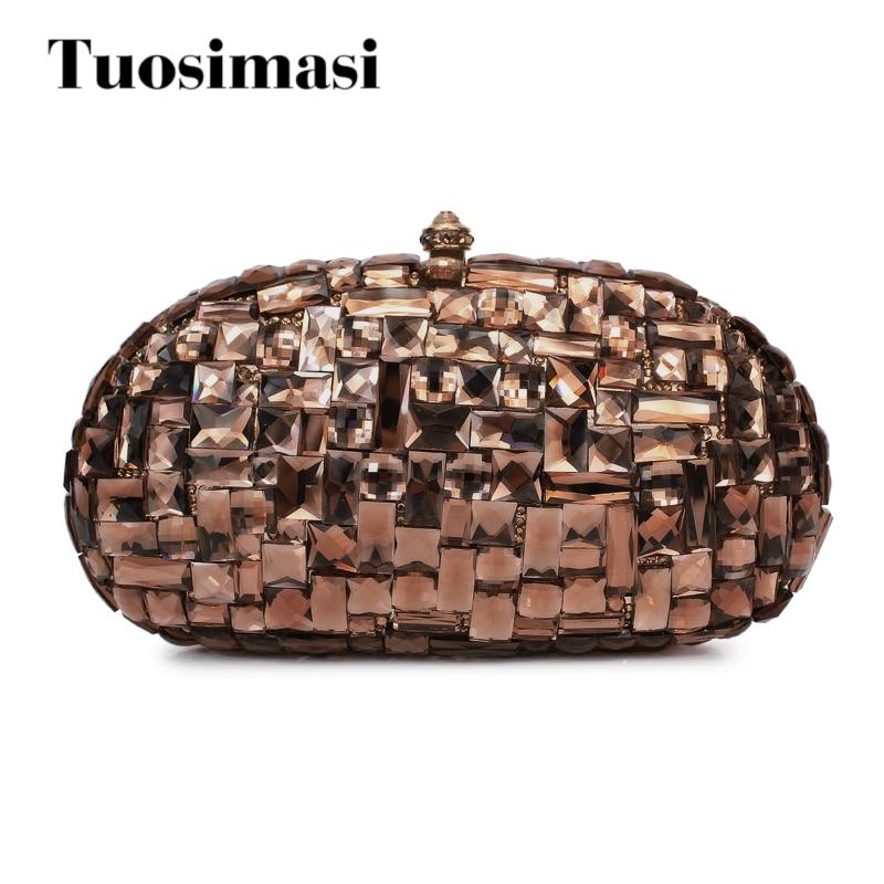 Exquisite Handmade Rhinestone Bridal Clutch Bag evening bag clutch bag rhinestone pu leather evening clutch bag