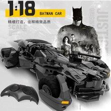 배트맨 RC 자동차 1:18 어린이 장난감 선물 충전식 2.4 GHz 원격 제어 자동차 정의 리그