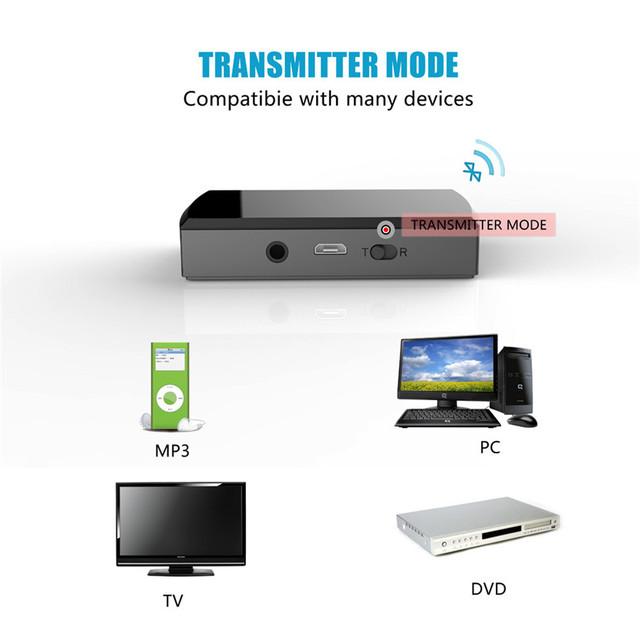 Mecall Tecnología USB 3.5mm Inalámbrica Bluetooth Estéreo de Música Audio Altavoz Transmisor Adaptador Caliente