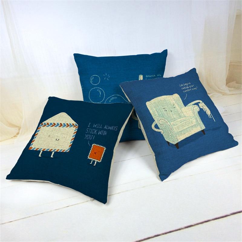 Umschlag mit gedruckt kissenbezüge wohnkultur platz vintage shabby chic sofa dekokissen fall