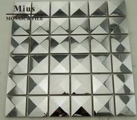 Cheap Mosaic Price 3D Stainless Steel Metal Mosaic Tile