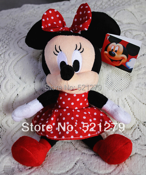 2017 new 1pcs 28cm=11inch Minnie mouse plush soft toys,red color,best birthday gift for daughter&girls