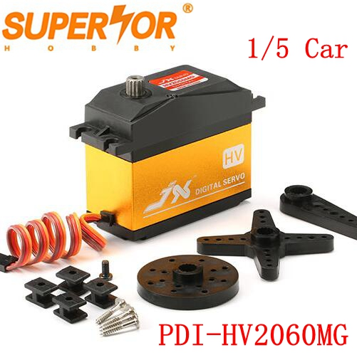 Superior Hobby JX PDI-HV2060MG 60KG Metal gear High Voltage Core Digital Servo 1/5 Car compatible SAVOX-0236 LOSI XL 5T BAJA jx servo pdi 6115 mg kg 15 large torque torque metal gear steering gear digital hollow cup standards