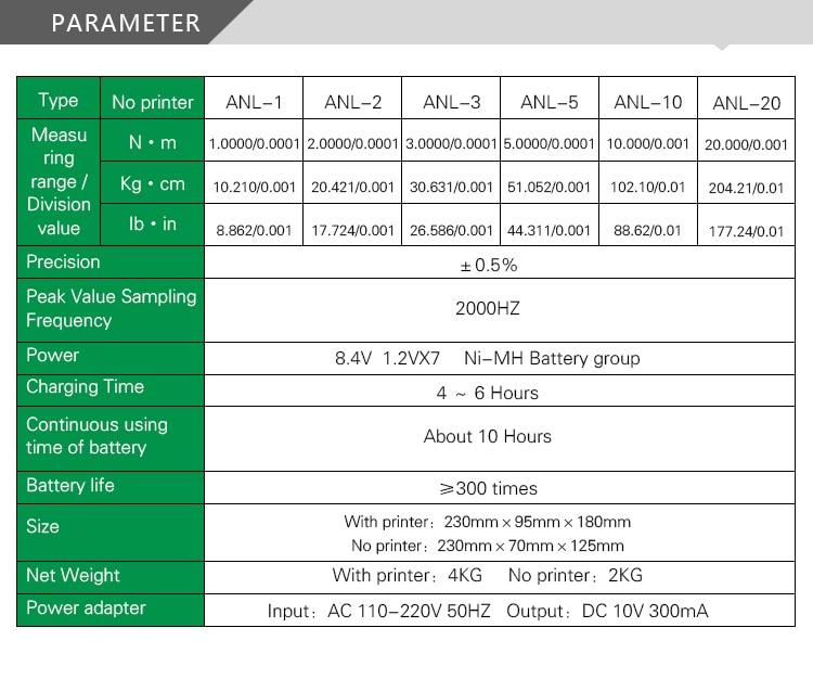 Цифровой измеритель вращающего момента торсионный тестер без принтера(ANL-3) 3N. m