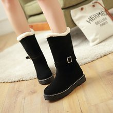 Women platform half short ankle snow boots wedding winter botas fashion buckle warm furry footwear moon botte femme shoes 999