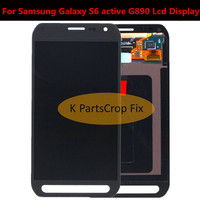 100% Tested 5.1 For Samsung Galaxy S6 active G890 G890A LCD Display+Touch Screen Digitizer Assembly Replacement