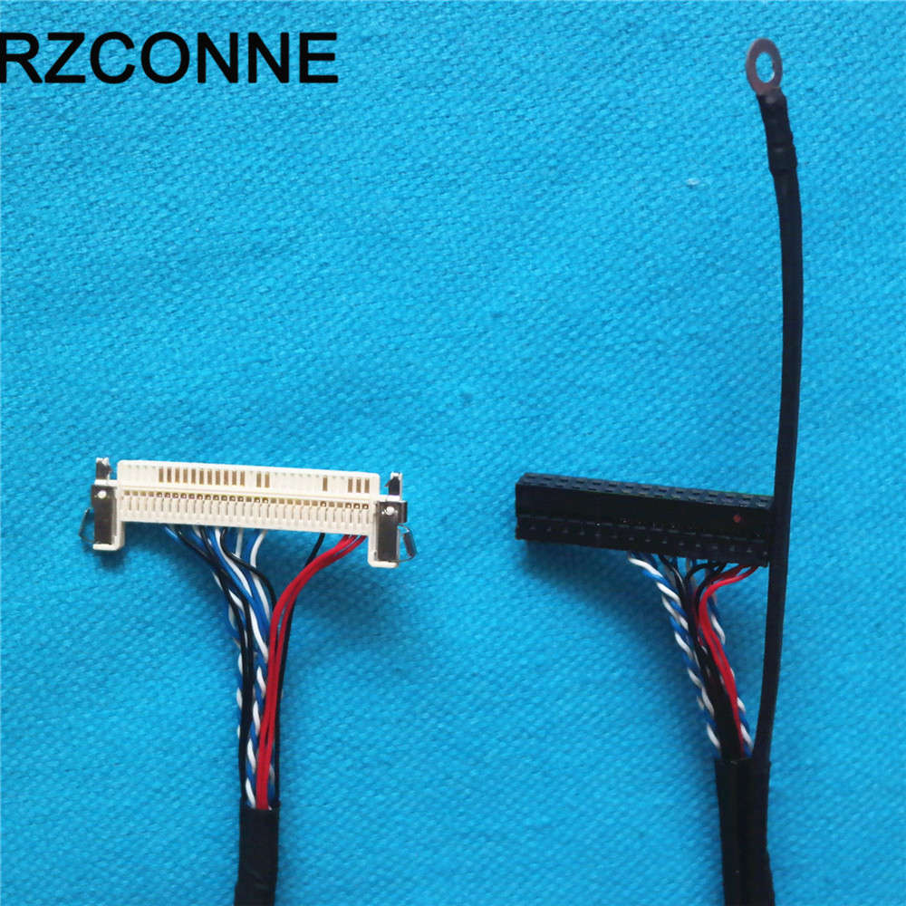 FIX 30Pin D8 LVDS Connector Oppisite Side FFC Cable 600mm For TV LCD Monitor