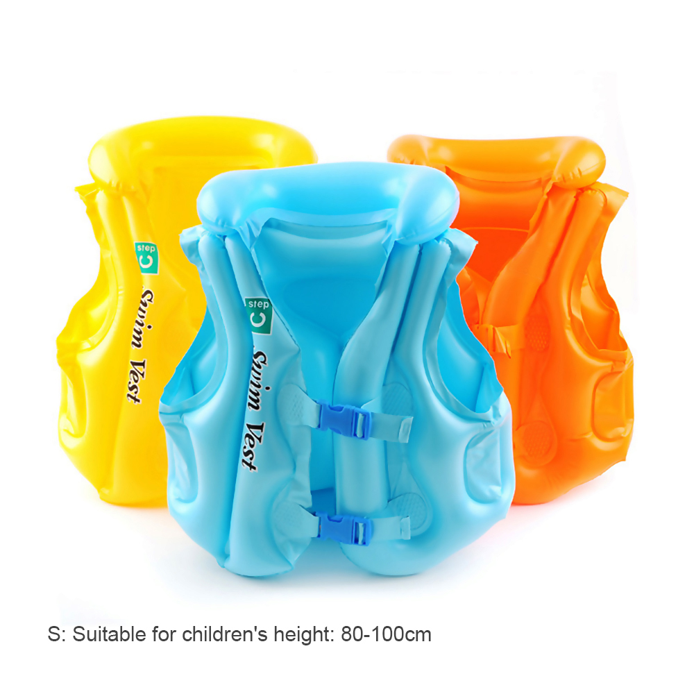 Inflatable PVC Air Life Jacket Aid Float Sea Swim Pool Vest Kid Baby Child Safe Color Random Delivery