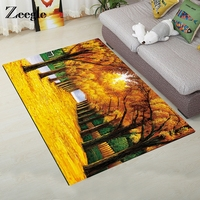Zeegle Antumn Leaves Bedroom Carpet Bedside Rugs Floor Rug Non slip Child 3D Carpet For Living Room Absorbent Kitchen Mats