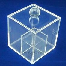 Акриловая коробка для хранения ювелирных изделий кубический