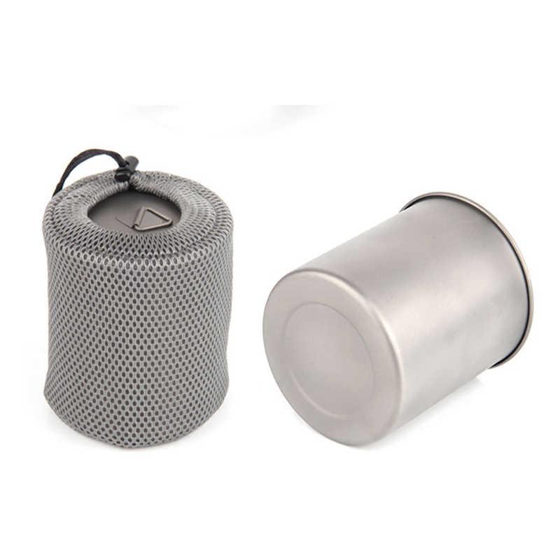 Tiartisan チタンカップ 750 ミリリットル超軽量キャンプバックパッキングカップ調理鍋セットとベント蓋折りたたみハンドル Ta8315