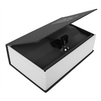 Metal Cash Secure Hidden New English Dictionary Booksafe Homesafe Money Box Security Key Lock