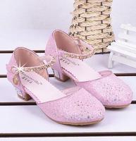 Free Shipping High Heeled Girl Party Elsa Shoes Infantil Princess 2014 Sandalias Sapato Infantil Menina Children