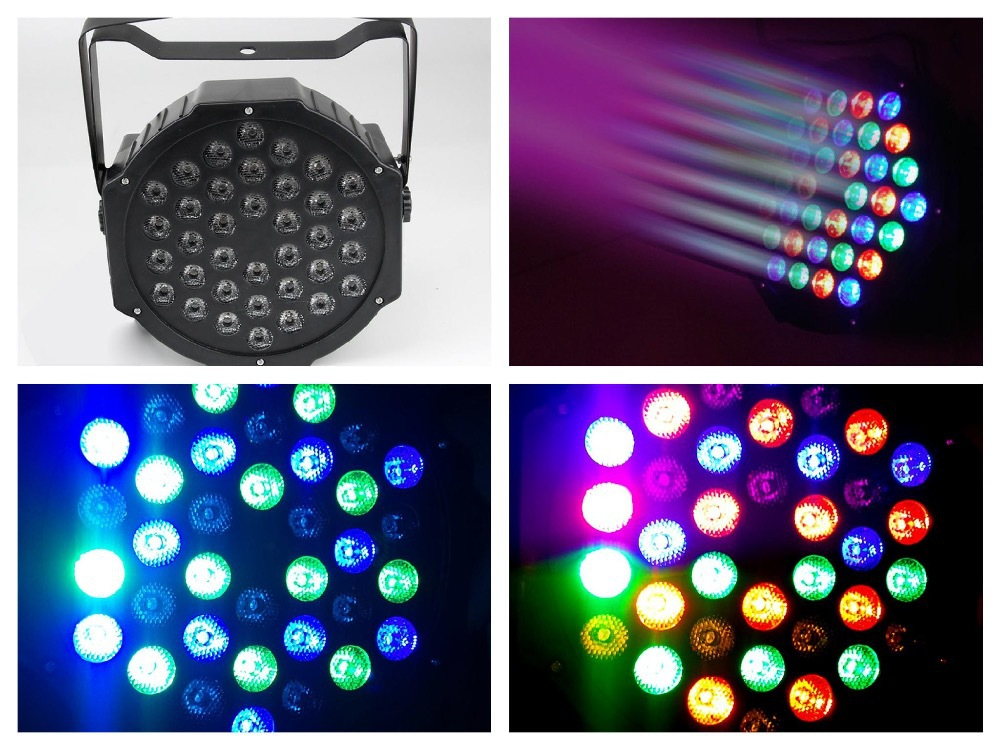 20pcs/Lot, Led par Light 36x1W RGB LED Par64 RGBW LED Flat Par can slim party stage disco club dj dmx led wash effect lights