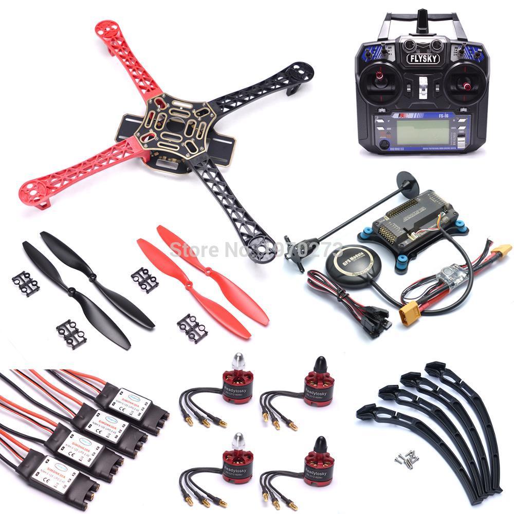 F450 Quadcopter Rack Kit Frame APM2.8 Flight Controller 7M GPS 2212 920kv Motor 30A ESC 1045 Prop Flysky FS-i6 FS I6 TransmitterF450 Quadcopter Rack Kit Frame APM2.8 Flight Controller 7M GPS 2212 920kv Motor 30A ESC 1045 Prop Flysky FS-i6 FS I6 Transmitter