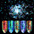 0.2g Cloud Chameleon Nail Paillette Irregular Flakies Powder Coral Color Nail Art Glitter Sequins Manicure Decorations