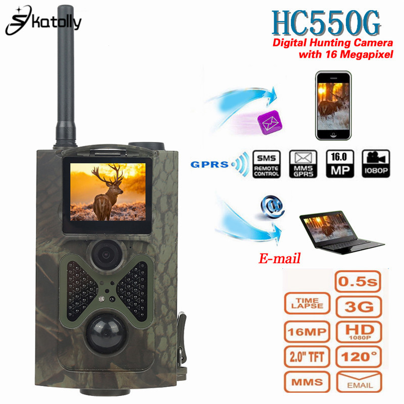 Skatolly HC550G Hunting Trail Camera 3G HD 16MP 1080P Video Night Vision MMS GMS Scouting Infrared Wildlife Game Hunter 2 lcd hd 1080p mms digital infrared