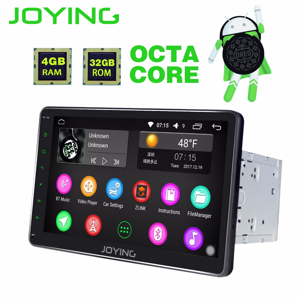 JOYING Ultime HD 10 ''4 gb di RAM Octa 8 Core Android 8.0 Auto Radio FM RDS Audio Autoradio Lettore stereo GPS unità di testa registratore a nastro