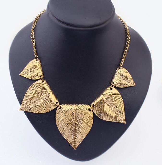 97e4025c954c Hoja Gargantillas 2016 nueva Declaración plata anti bronce enlace y Collares  de cadena y Colgantes joyería africana
