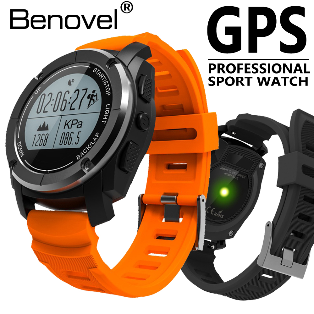 Benovel Sports Bluetooth GPS Smart Watch S02 Heart Rate Monitor Wristwatch Tracker Pace Speed Frequency Monitor