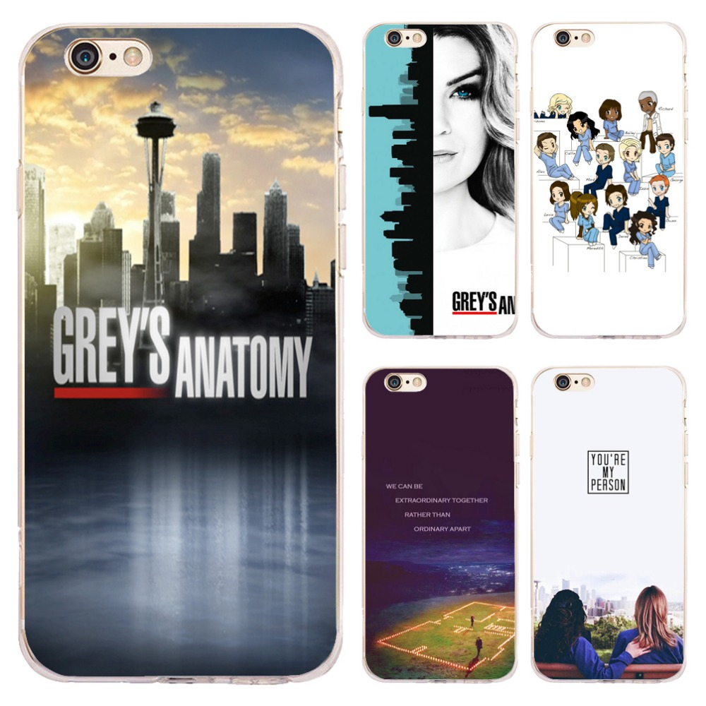 Coque Capa Greys Anatomy Clear Soft Silicone Phone Cases for iPhone XS Max XR X 7