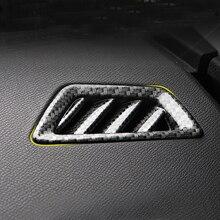 Carbon Fiber Color Interior Upper AC Vent Outlet Cover Trim 2PCS Left Hand Drive For Peugeot 3008 GT 5008 GT 2017 2018