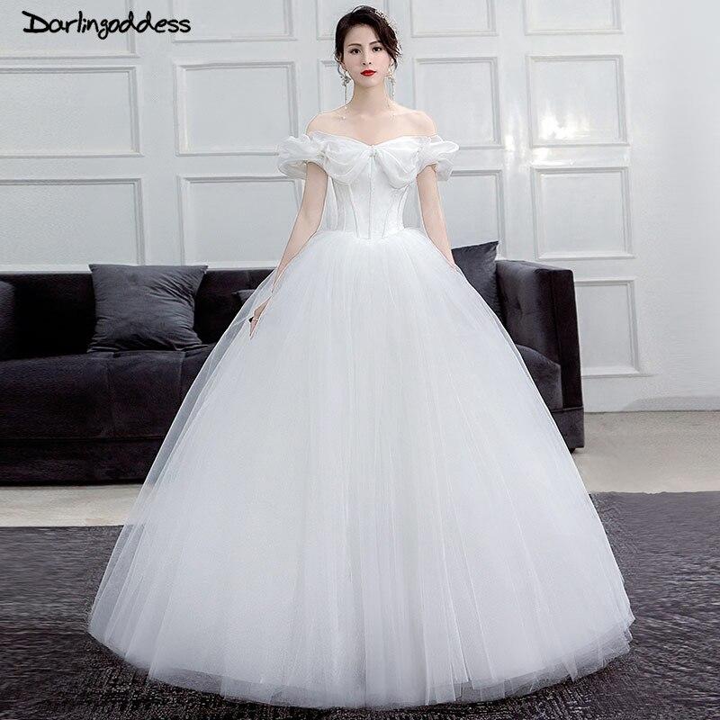 Elegant White Princess Wedding Dresses Arabic Cinderella
