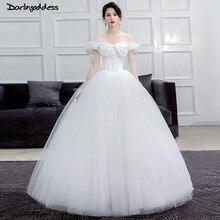 a38c6d34443df أنيقة الأبيض الأميرة الزفاف فساتين العربية سندريلا كاب الأكمام الكرة ثوب  الزفاف اللباس زائد حجم الطابق طول أثواب الزفاف