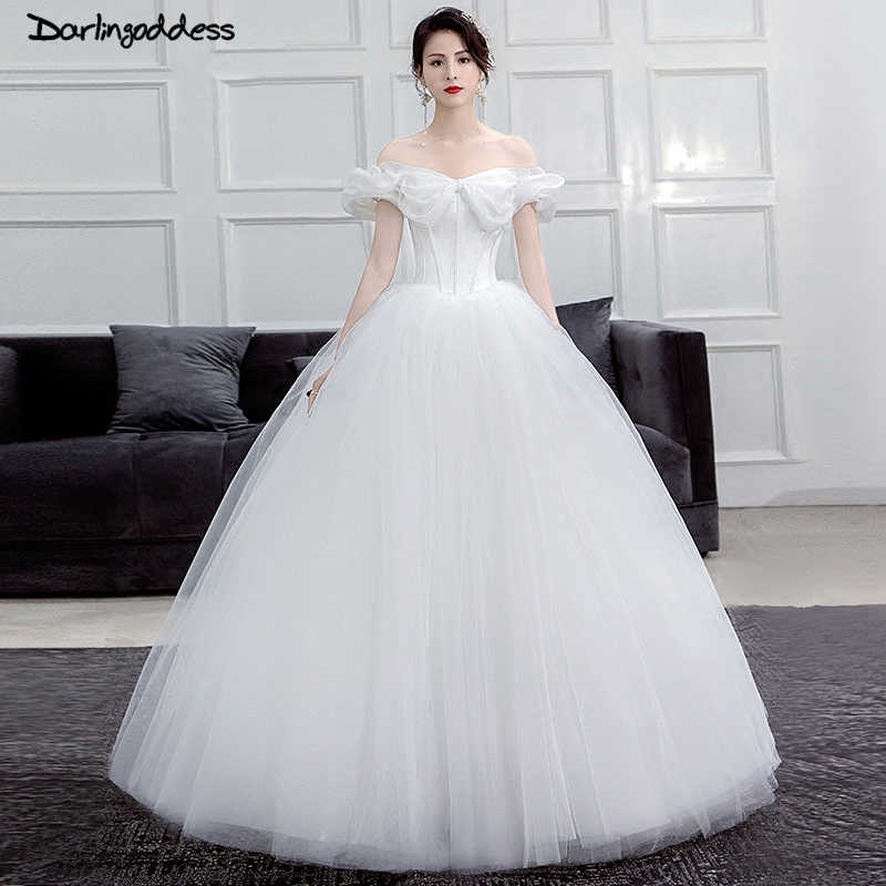 Elegant White Princess Wedding dresses Arabic Cinderella Cap Sleeve Ball  Gown Wedding Dress Plus Size Floor Length Wedding Gowns