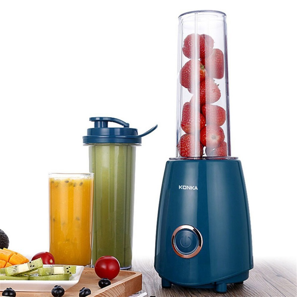 KONKA Portable Mini Electric Juicer Small-Scale Domestic Fruit Juice Processor Extractor Blender Smoothie Maker KJ-JF302 konka kj jf302 500ml portable electric juicer multi function household vegetable juice extractor portable blender juicer machine