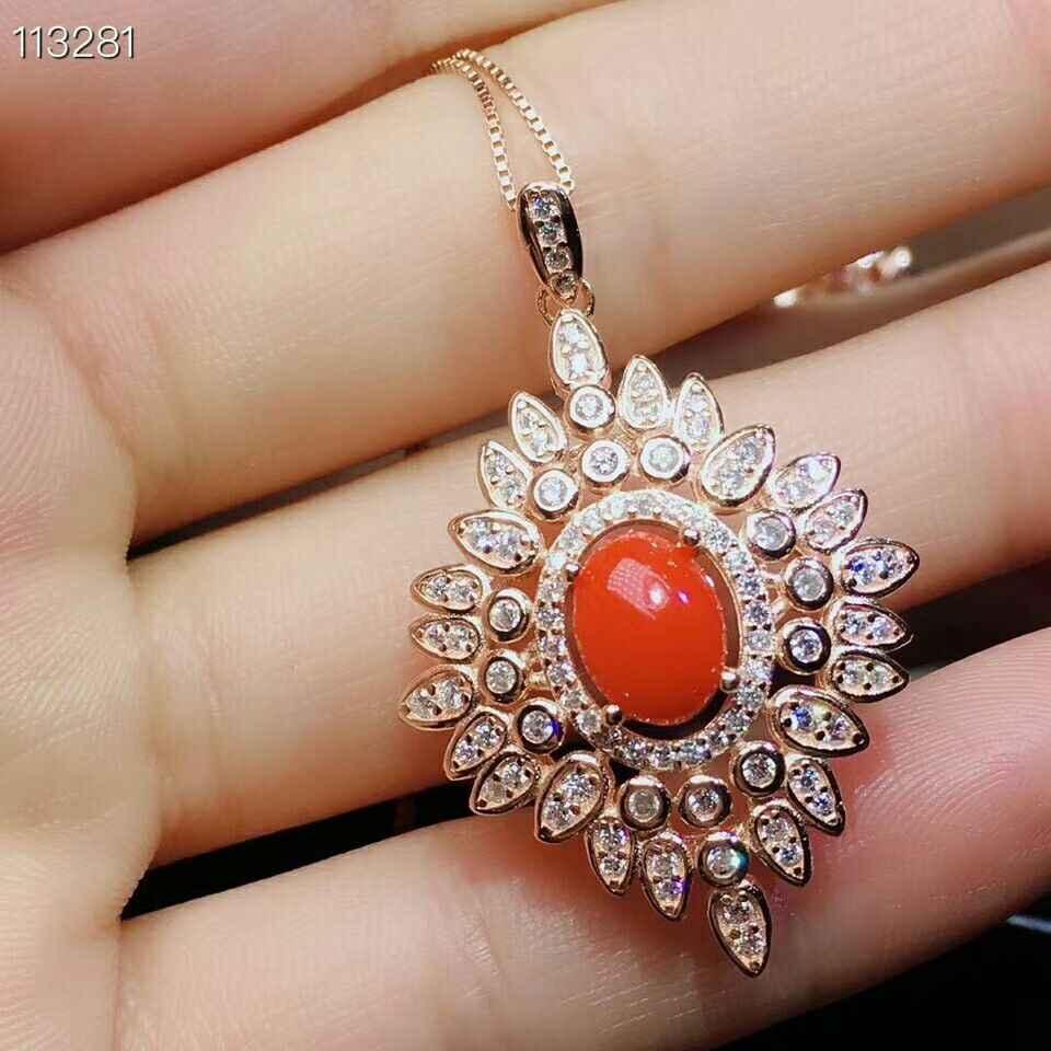 MeiBaPJธรรมชาติสีแดงCoralอัญมณีเครื่องประดับชุดแหวนเงิน 925 สร้อยคอต่างหู 3 ชิ้นชุดเครื่องประดับงานแต่งงาน