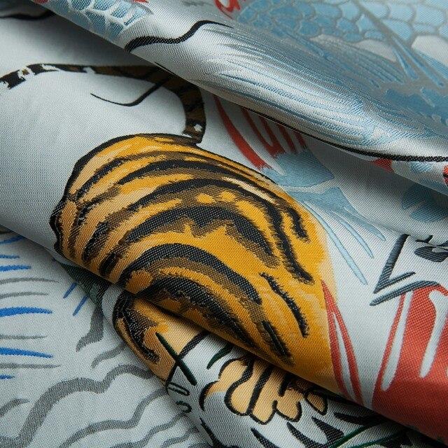 양재 패션 브랜드 자카드 타이거/드래곤/나무 패턴 패브릭, 중국 스타일, 재킷, 드레스, 스커트, 조각에 의해 공예 바느질