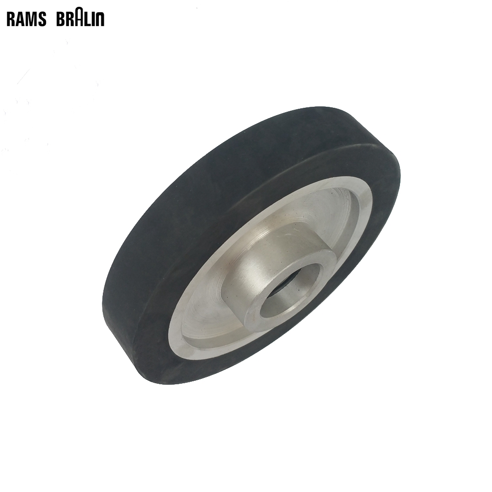 150*25mm Flat Rubber Contact Wheel Belt Grinder Parts Sanding Belt Set 300 50mm flat belt grinder contact wheel dynamically balanced rubber polishing wheel abrasive sanding belt set