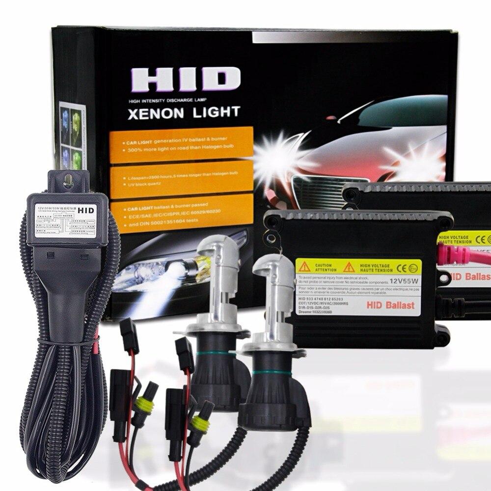 1 Set H4 9004/9007 H13 HID Xenon Headlight Conversion Kit Car Xenon Light 55W 6000K 3000K 5000K 8000K Dual Beam High Low Beam