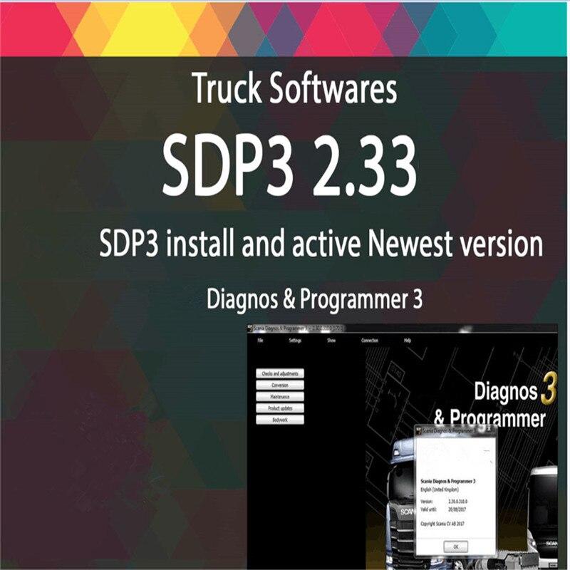 Latest VCI SDP3 V2.33 Software for Scania Diagnose Programmer 3 SDP3 Without USB Dongle karcher sdp 5000