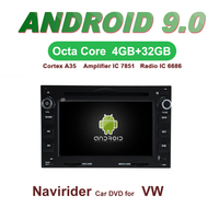 OTOJETA Car GPS Android 9.0 Radio For PASSAT B5 Golf 4 Polo Sharan T5 Stereo Navigation DVD Capacitive screen Mirror Link