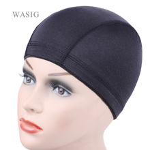 Pelucas de red sin pegamento para la fabricación de pelucas, 24 Uds., forro de peluca barato, gorra de Peluca de domo elástica de LICRA roja