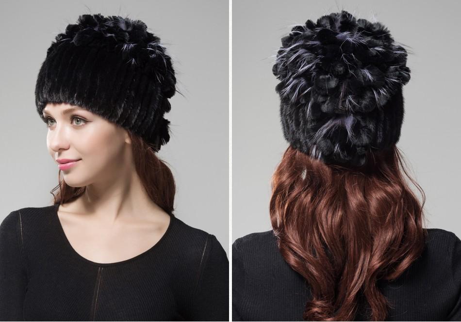 mink fur hats female winter PCM016 (24)