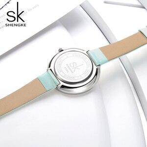 Image 5 - Shengke Marke Frauen Luxus Uhren Weibliche Weiße Leder Armbanduhr Mixmatch Kleid Quarzuhr Ultra Dünne Relogio Feminino 2020