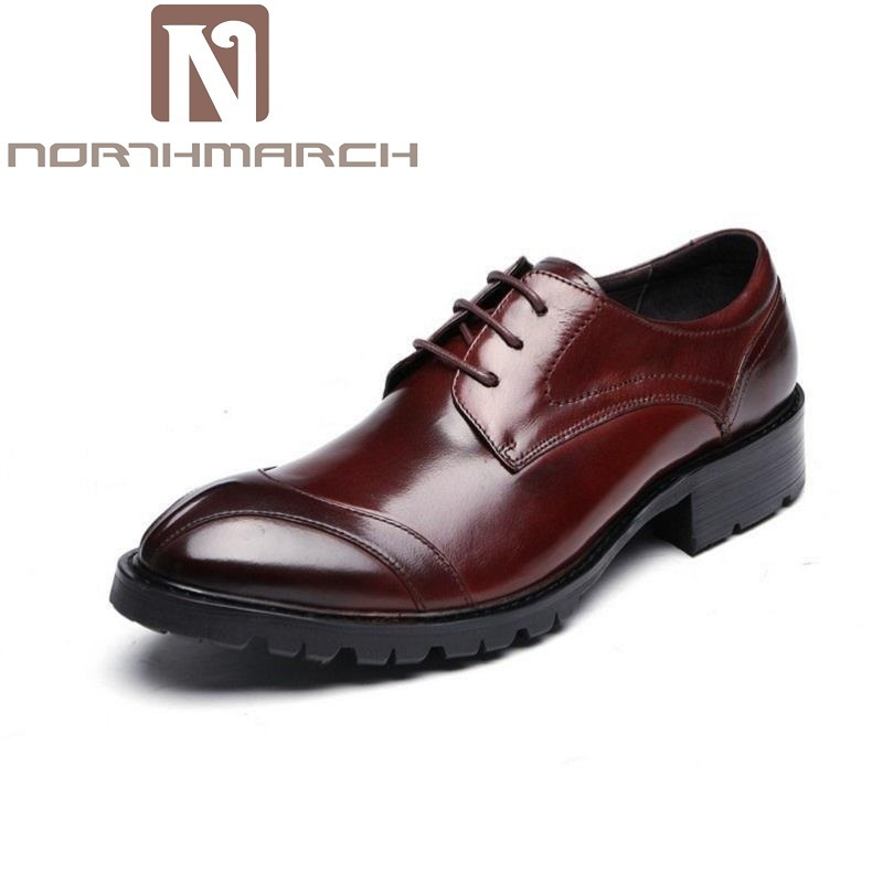 NORTHMARCH Black Designer Formal Oxford Shoes Leather Gentleman Dress Shoes Men Business Wedding Shoes Sapato Oxford Masculino northmarch wedding men dress shoes genuine leather black formal male oxford italian classic men s shoes sapato oxford masculino