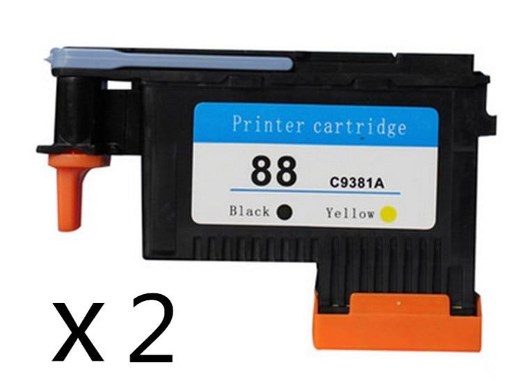 ФОТО 2 pcs/set Remanufactured Printer head for HP88 C9381A printhead for HP K550 K5400 K8600 L7000 L7480 L7550 L7580