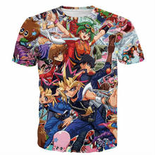 Men/Women Games Duel Monster Characters Paparazzi T-shirt Yu Gi Oh Monster's Anime 3D Print T Shirts Harajuku Tee Tops(Hong Kong,China)