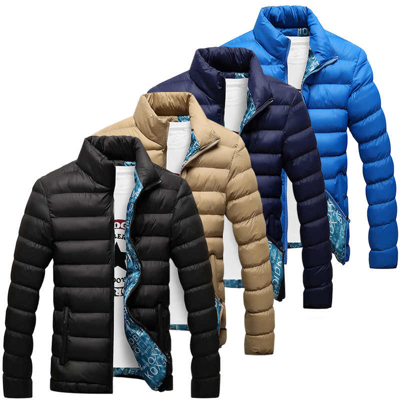 Winter Jacket Men 2019 New Cotton Padded Thick Jackets Parka Slim Fit Long Sleeve Quilted Outerwear Clothing Warm Coats