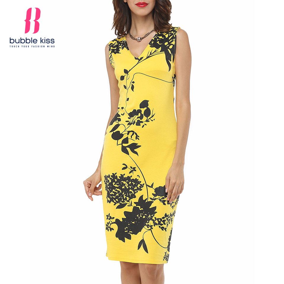 Letters Dresses Neck Sleeveless V Printed Bodycon next day delivery