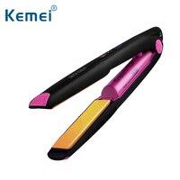 Top Quality Ceramic Wireless Cordless USB Charging Multifucional Mini Ceramic Straightener Hair Flat Iron Hair Curler