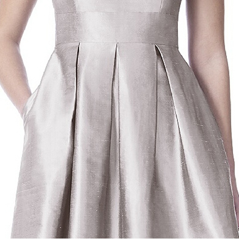 a2a33417e171 Refined Silver Short Bridesmaid Dress 2015 Scoop Neck Knee length Maid of Honor  Dress Short Wedding Guest Dress vestido de festa-in Bridesmaid Dresses from  ...