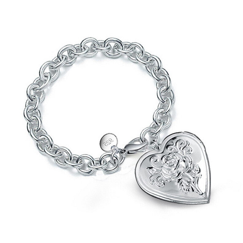 Heart-shaped Chrysanthemum pattern bracelet S211